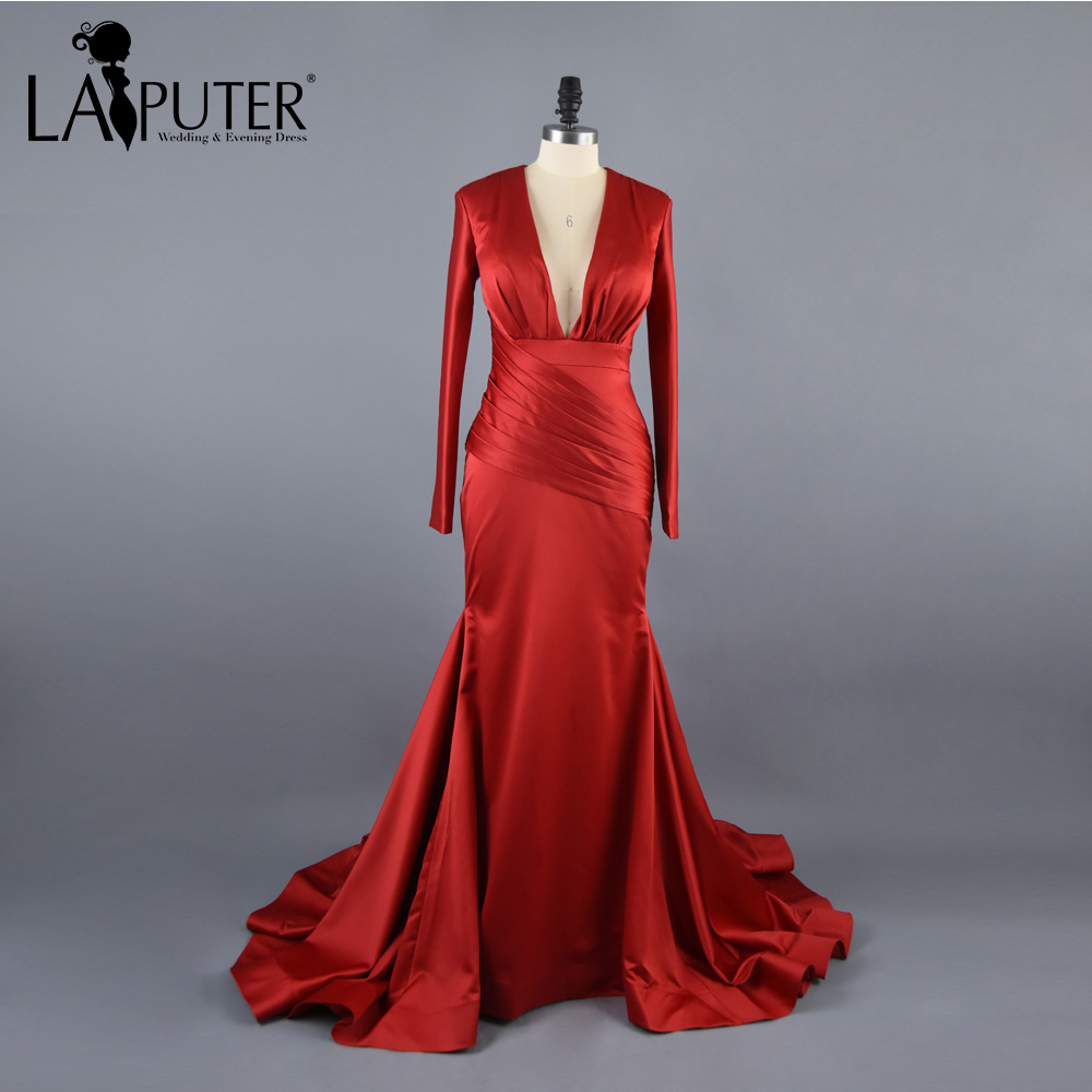 Robe De Soiree Burgundy Evening Dress Wine Red Cheap Prom Dresses ...