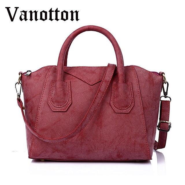 2016 Women Handbag Fashion Pu Leather High Quality Tote Bag Brand Design Casual Solid Color Shoulder Bag Female Messenger Bag