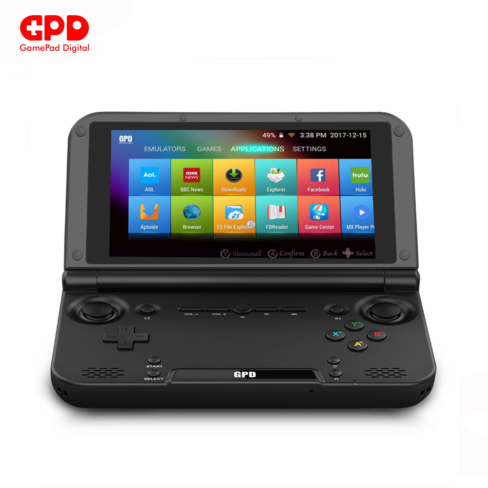 GPD XD Plus Gamepad Tablet PC MT8176 Quad Core 5.0 Inch 1280*720 Android 7.0 Handheld Game 4GB RAM 32GB ROM Black gpd xd 5 inch touchscreen quad core cpu mali t764 gpu 2gb ram and 32gb rom handheld game player handheld flip video game console