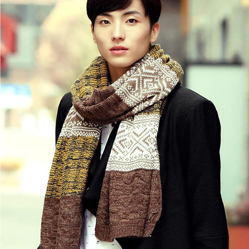 Winter Men's Fashion Casual Shawl Wrap Muffler Scarf Assorted Color Scarves  Warm fashion scarf scarf fashioncolorful scarf - AliExpress