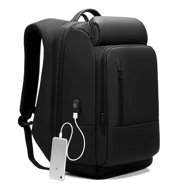 Male 17 inch Laptop Backpacks bags Men Water Repellent Functional Rucksack with USB Charging Port Travel bag Backpack mochila