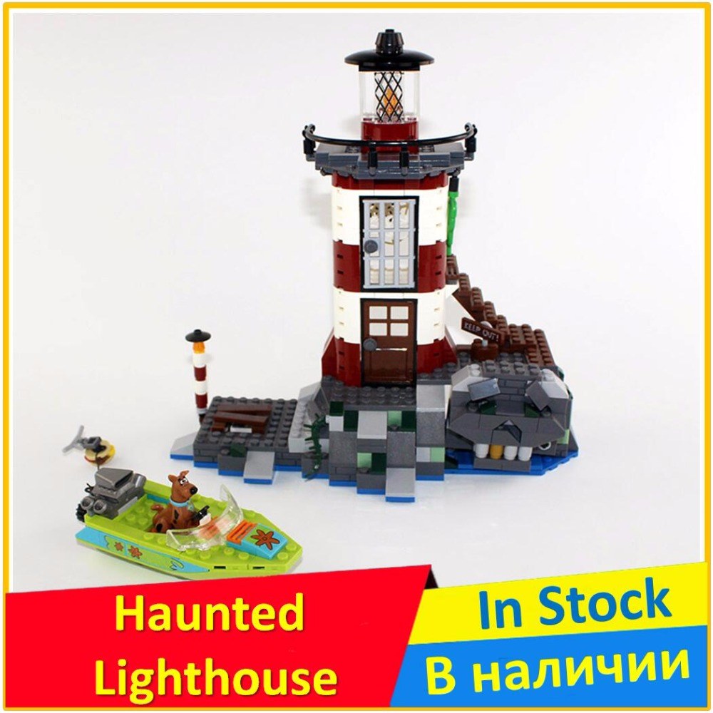 Haunted Lighthouse 75903 Building Blocks Model Educational Toys For Children BELA 10431 Compatible legoing Scooby Doo Bricks Set bela scooby doo haunted lighthouse building block model kits scooby doo marvel toys compatible legoe