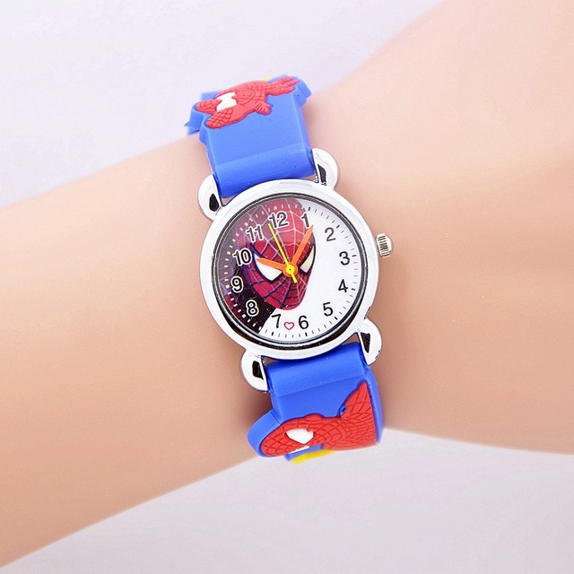 2017 Fashion Spiderman Child Watch Silicon Cartoon Kids Sport Watch Boys Silicon