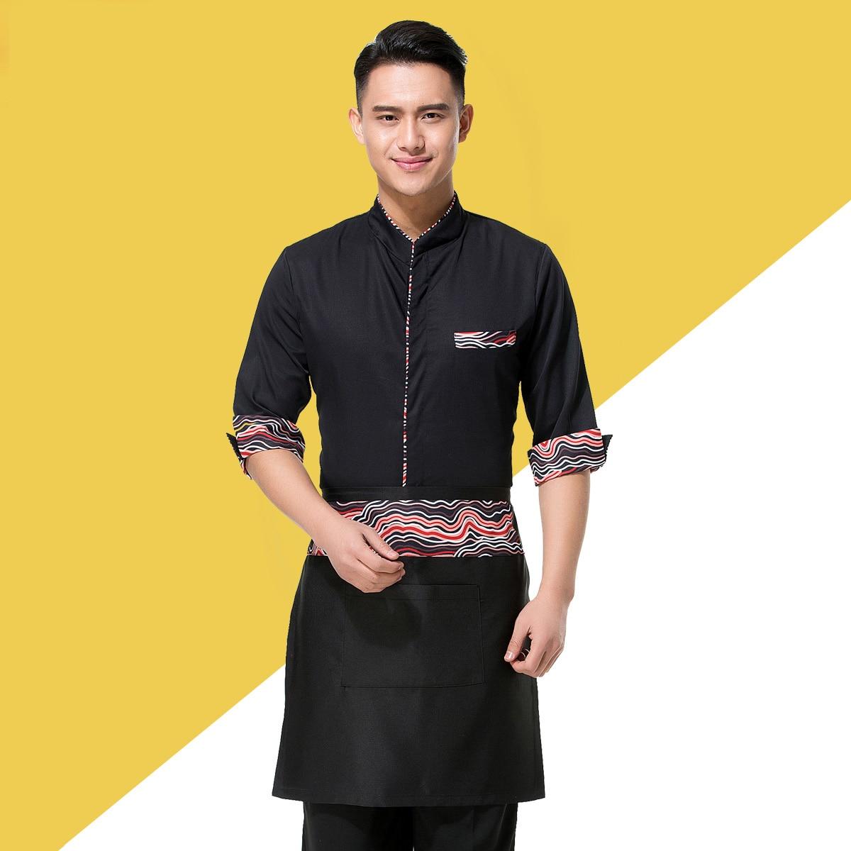 Mundur szefa kuchni zachodniej restauracji Kelner Odzież robocza z krótkim rękawem Kombinezony Odzież robocza z fartuchem