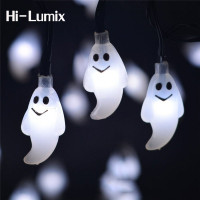 Kitop 4 8M 20leds Or 6M 30Leds Waterproof Cute Ghost Solar Powered Led String Light Outdoor