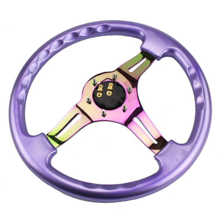Neo Chrome New 350mm 14inch Steering Wheel ABS Steering - Suku cadang mobil - Foto 4