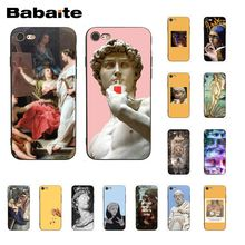 Babaite Aesthetics Yellow oil painting Camila Plaster statue PhoneCase for iphone 11 Pro 11Pro Max 8 7 6S Plus X XS MAX 5S SE XR