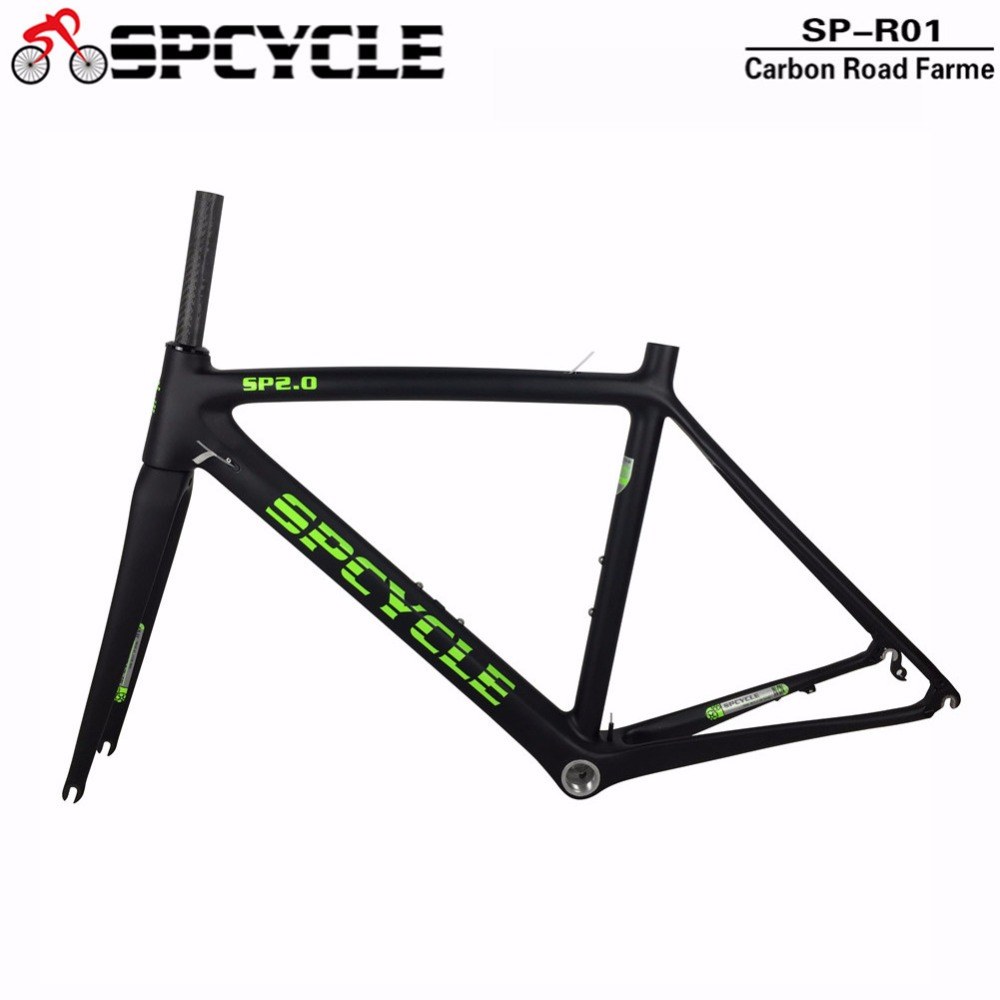 Spcycle T1000 Full Carbon Road Bicycle Frames, Racing Carbon Bike Frames BSA 68mm Model, Road Bike Frames 50/53/55cm In size 2018 carbon fiber road bike frames black matt clear coat china racing carbon bicycle frame cycling frameset bsa bb68