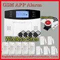 2017 Nueva Venta Caliente Del Envío Libre Sistema de Alarma GSM Inalámbrico LCD Teclado Puerta PIR Sensor de Alarma De Guardia del Lobo Winodw M2B