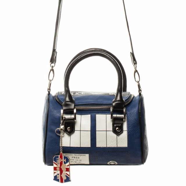 Doctor Who Bag TARDIS Mini Satchel and Metal Charm Keychain Shoulder Handbag 10pcs/lot Free DHL