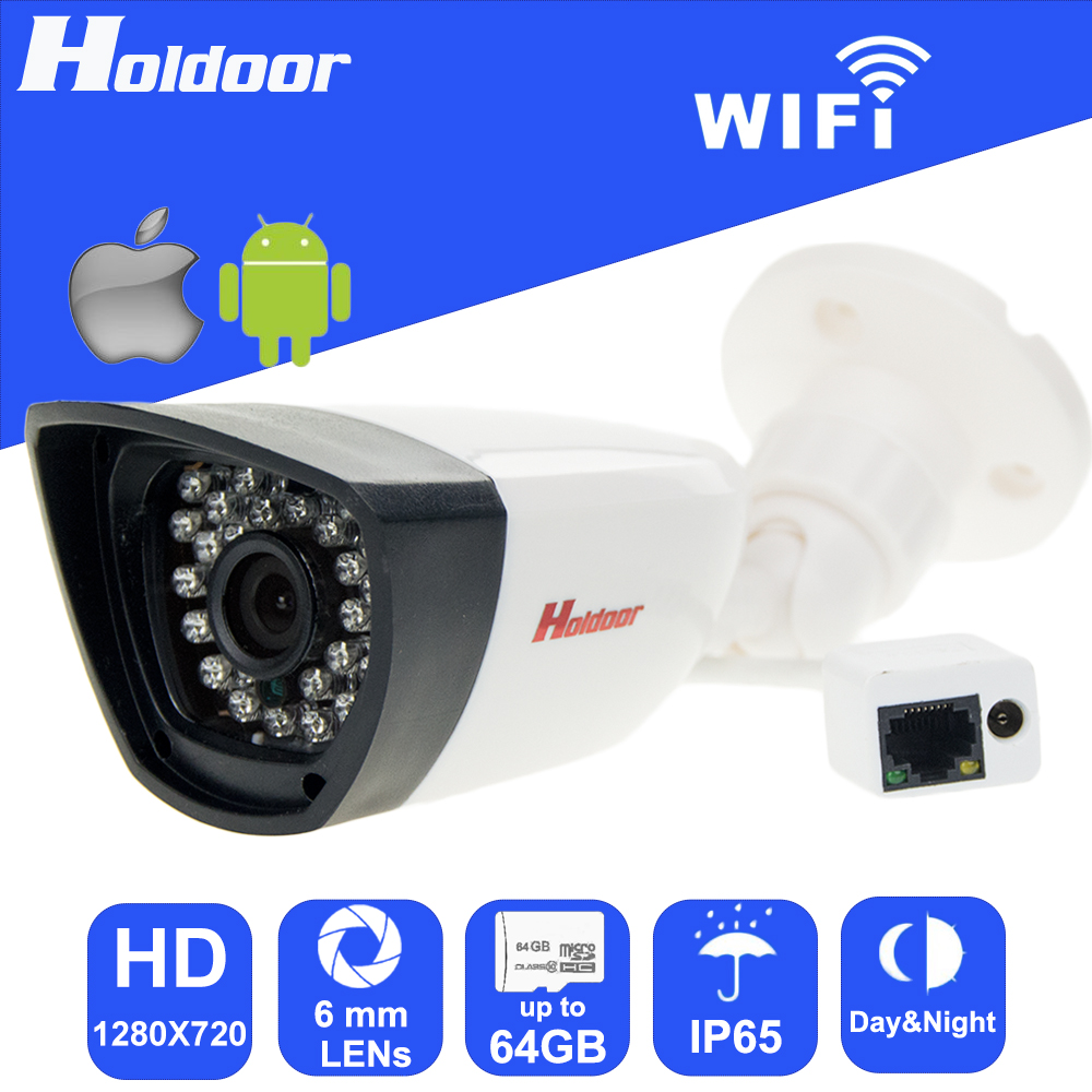 WiFi P2P IP 720P HD Video Security Surveillance Night Vision 6mm Lens Camera with micro SD card slot email alert free remote app wifi 960p 6 0mm lens ip p2p security camera micro sd card slot video record email alert motion detection alarm waterproof ip65