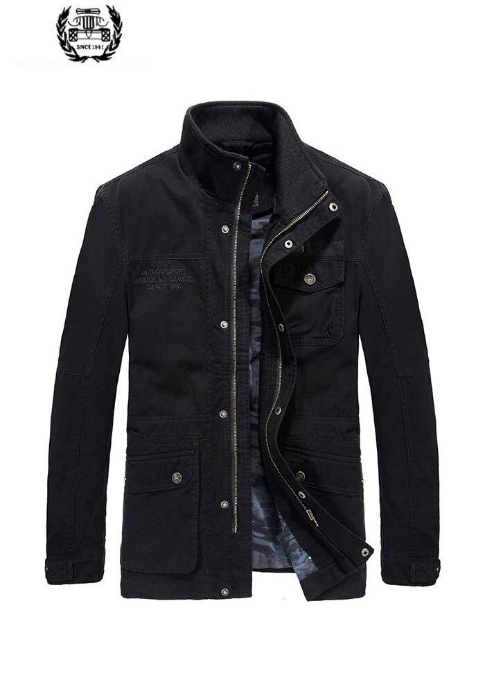 2019 nouveau automne printemps Cargo vestes manteaux lettre militaire col montant 4XL décontracté mode vestes manteaux affaires couleur unie - 2