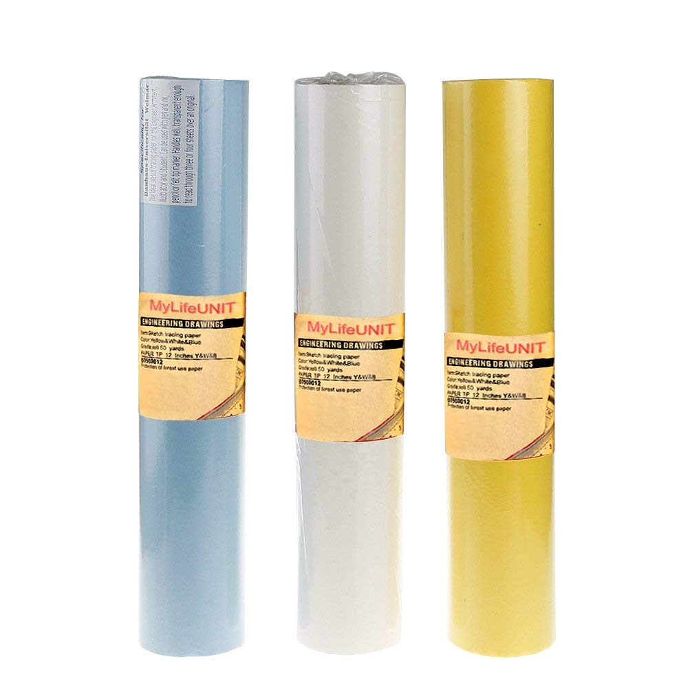Alvin 55Y-H Lightweight Yellow Tracing Paper Roll 14 inches x 50 yards
