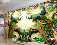 Beibehang 3d Wallpaper Border Forest In The Phoenix TV Background Bedroom Living Room Wall Decoration Painting
