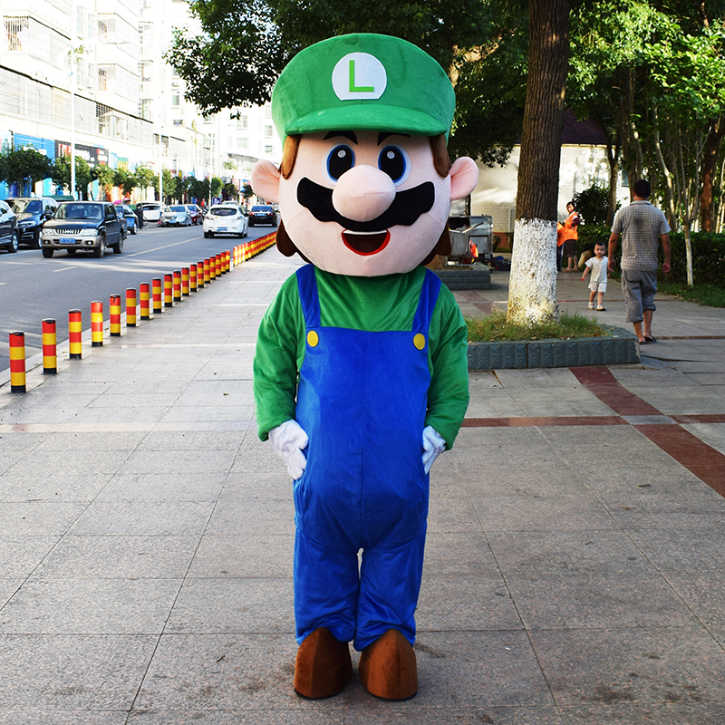 Mascotte de costumes de cosplay Super Mario Bros