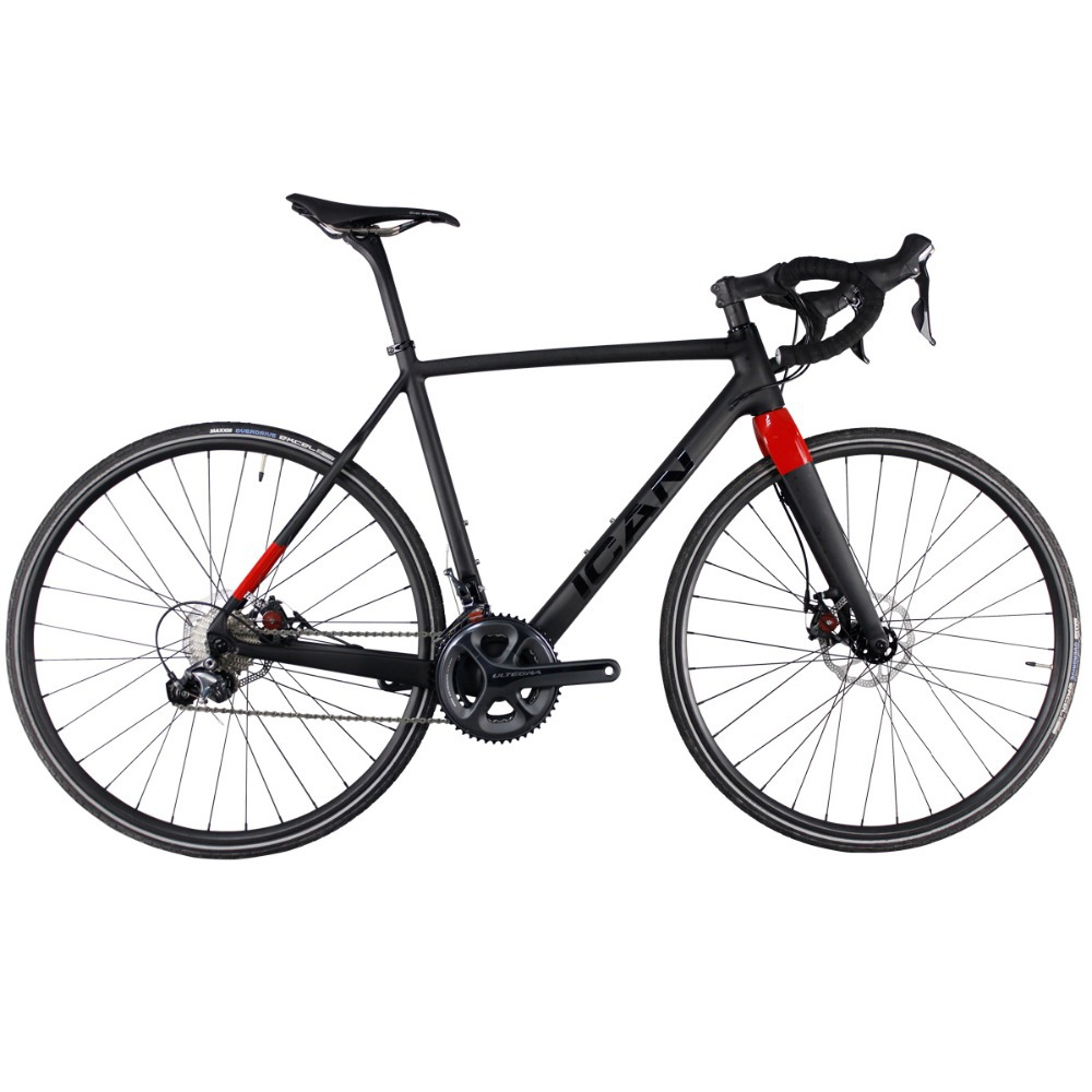 ICAN Cyclocross Small Size Bike 48/50/52/54/56/58cm Disc Hardtail Super Light Carbon 8.22kg Around Only With Ultegra Groupset