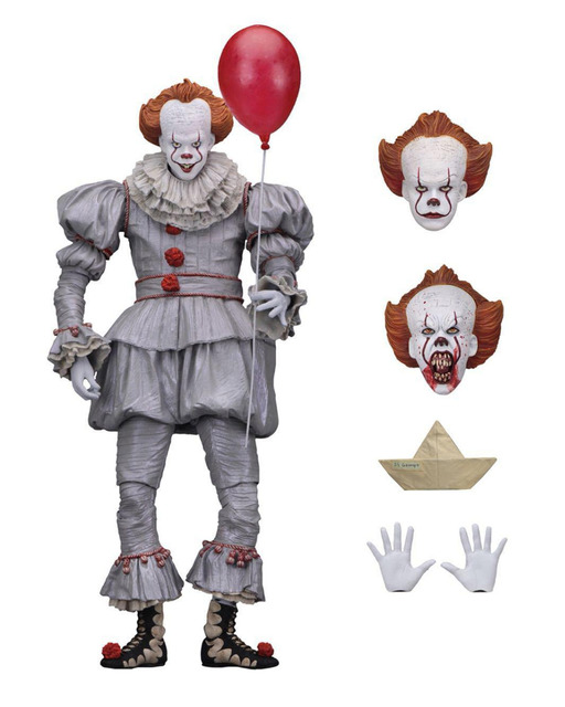 18cm Original Neca Stephen King's It Pennywise Joker clown BJD Action Figure Toys Dolls Cosplay Halloween Day Christmas Gift