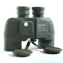 Askeri 10x50 HD deniz dürbün Zoom Rangefinder pusula teleskop mercek su geçirmez azot ordu yeşil USCAMEL