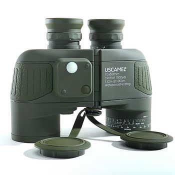 Military 10x50 HD Marine Binoculars Zoom Rangefinder Compass Telescope Eyepiece Waterproof Nitrogen Army Green USCAMEL - DISCOUNT ITEM  45% OFF All Category