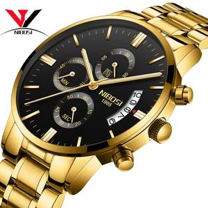 Image 2 - NIBOSI Relogio męski zegarek mężczyźni złoty i czarny męskie zegarki Top marka luksusowe zegarki sportowe 2019 Reloj Hombre wodoodporny