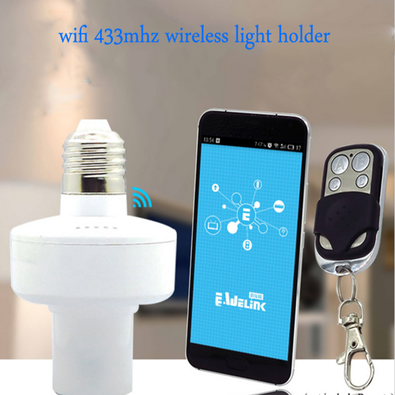 imágenes para Nueva Sonoff E27 Slampher RF WiFi 433 MHz Inteligente de Luz de Lámpara Soporte de Control Remoto Inalámbrico Para El Hogar Inteligente por teléfono
