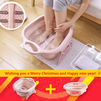 Foot massage bucket foot SPA Chinese health care Foot bath Foldable massage basin Portable washtub washbasin folding basin Gift