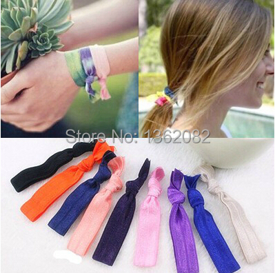 Europe hair band Elastic hair ties No crease Girl s ponytail holder  bracelet and hairitem ribbon band 12pcs MF06 090adfeb2da