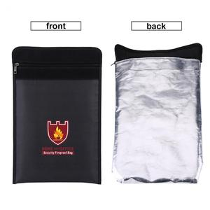 Image 5 - 1pc Double Sided Fireproof Bag Fire Water Resistant Pouch for LiPo Battery Portable Money Document Multifunctional Safety Bag