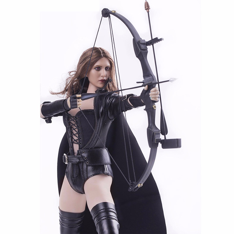 1/6 Scale Night Killer Womens Black Leather Clothes and Boots Set for 12 Inches Action Figures Accessories 1 6 scale 12 inches the rise of the legend wong fei hung full set action figures with body two heads clothes accessories