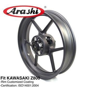Arashi Z800 2013-2015 Front Wheel Rim For KAWASAKI Z 800 2013 2014 2015 Wheel Rim Z750 ER6N ZX10R Z1000SX Motorcycle Black