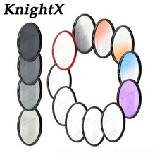 лучшая цена KnightX 52mm 55mm 58mm 67mm 77MM FLD UV CPL MC Star nd lens color filter for Sony Nikon Canon 700D d3300 Camera DSLR d5200 d5300