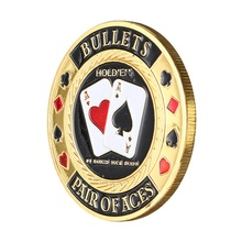 Gold Plated Poker Chips with Round Plastic Case