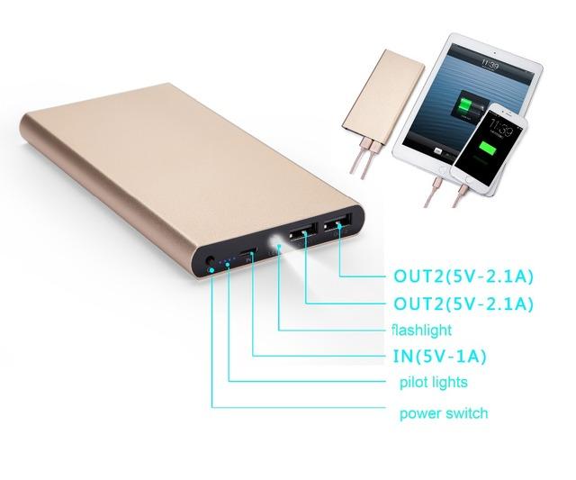 Yoteen 12000 mah banco de potência ultra fino para iphone ipad móvel banco do poder carregador portátil para samsung galaxy s6 s7 s5 Powerbank