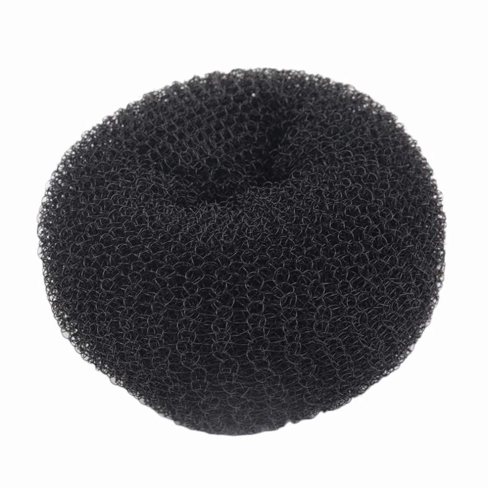 Wanita Gadis Sponge Rambut Bun Pembuat Ring Donat Bentuk Karet Rambut Styler Alat Magic Rambut Styling Bun Pembuat Rambut Band Aksesoris