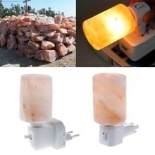 HNGCHOIGE 15W Rotatable Cylinder Himalayan Salt Lamp Air Purifier Crystal Salt Rock Bedside Night Light R11 Drop ship
