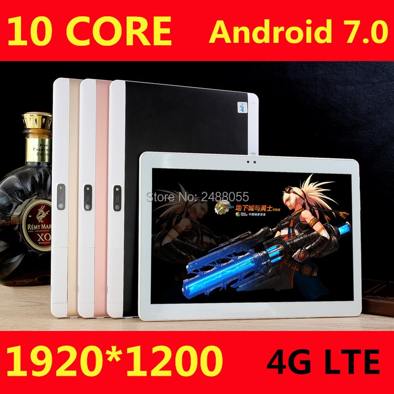 DHL Free Shipping 10 Inch T100 Tablet PC Deca Core 3G 4G GPS Android 7.0 4GB 128gb/64gb Dual Camera 8.0MP 1920*1200 IPS Screen
