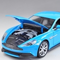 WELLY 1/24 Scale Car Model Toys AstonMartin V12 VANQUISH Diecast Metal Car Toy New In Box For Gift/Kids/Collection