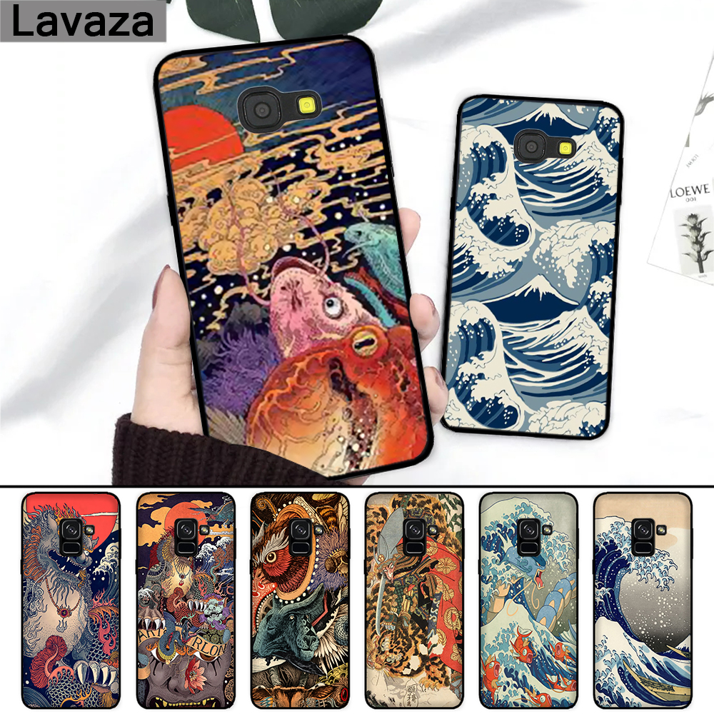 Lavaza Japanese style <font><b>Art</b></font> Japan Silicone <font><b>Case</b></font> for <font><b>Samsung</b></font> A3 A5 2016 2017 A6 Plus A7 A8 A9 A10 <font><b>A30</b></font> A40 A50 A70 J6 2018 image