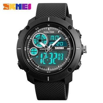 2e69a2329d3c Skmei hombre reloj deportivo al aire libre relojes luz trasera cronógrafo  alarma 2 time50m impermeable Relojes