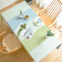 Europe Green Kitchen Waterproof Table Cloth Stripe Rectangular Dining Table Cover End/Tea Table Coat Obrus Tafelkleed mesa nappe