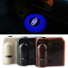 2pcs Wireless No Drill LED Laser Door Shadow Light Welcome Projector Light LED Car Door Logo Ghost Shadow Emblems For Ford