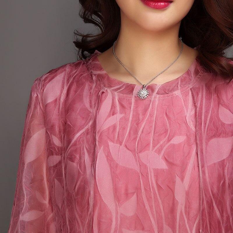 Impression En Été Vintage Courtes Casual 6 Manches 4xlspring Grande Rond Col Feminina rouge Vert Robe Taille Avec F1gxXq6