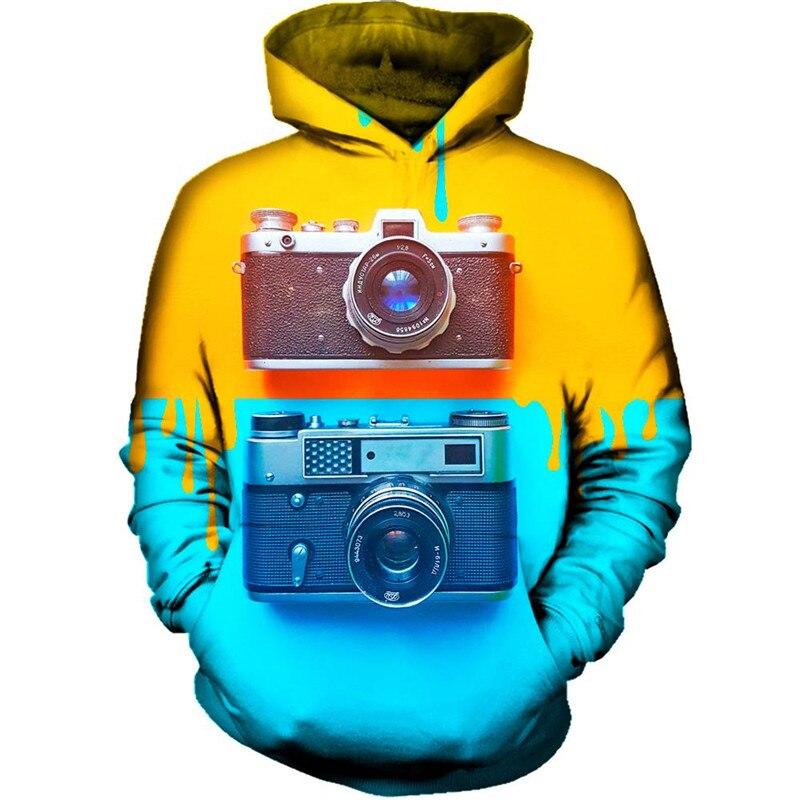 Camera 3d Hoodies