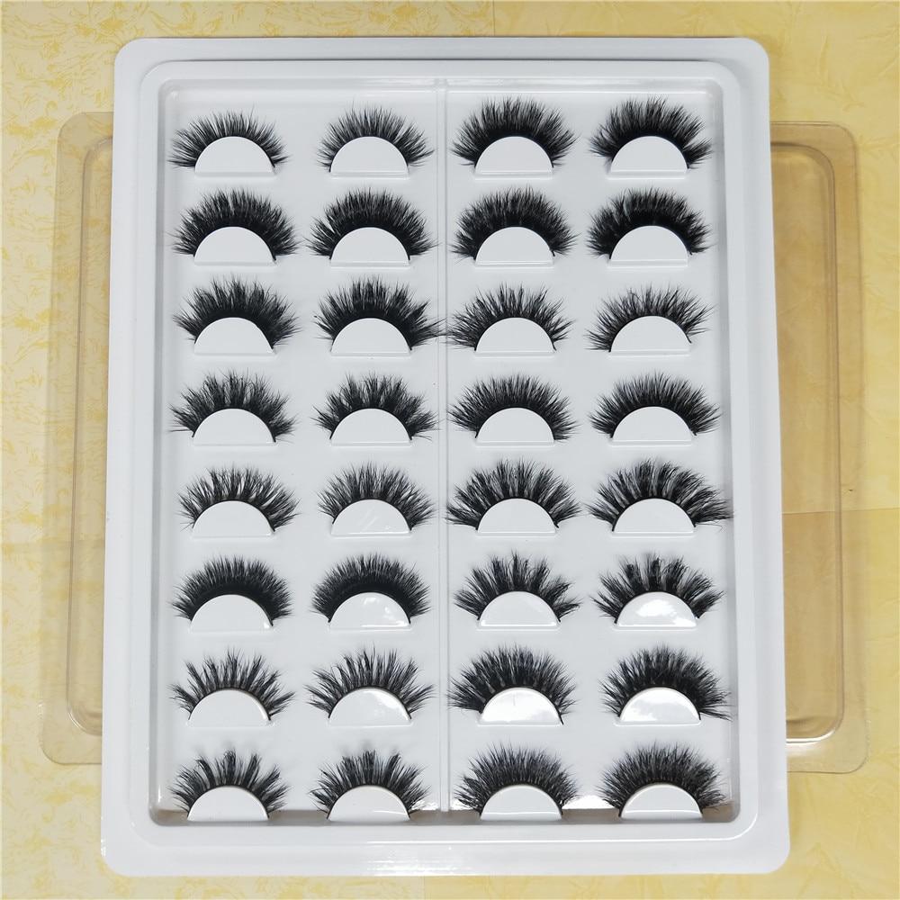 16 stijlen/set 100% Real 3D Mink Wimpers Zachte Natuurlijke Valse Wimpers Mink Wimpers Make Lange Wimpers Wimper Extension - 5