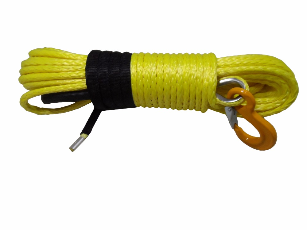Yellow 10mm*30m Replacement Synthetic Rope for Winch,3/8 x 100 winch cable,Replacement Winch Cable,Winch Line