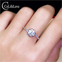 CoLife Jewelry Moissanite Wedding for Woman 1ct D Color VVS1 Grade Moissanite Silver Ring 925 Silver Moissanite Jewelry