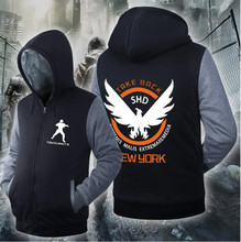 MEN WOMEN Cold-Resistant Cosplay Costume Tom Clancys The Division Zipper Jacket Sweatshirts Thicken Hoodie Coat Top Clothing