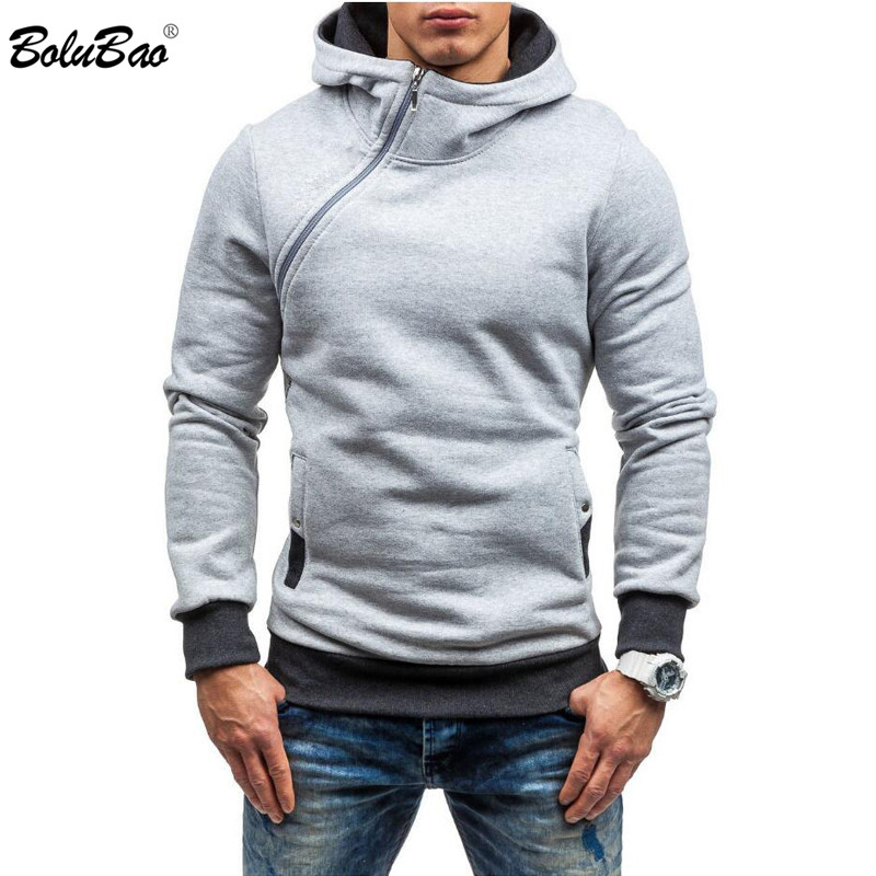 BOLUBAO Men Hoodie Sweatshirt Spring Brand Solid Color Fleece Tracksuit Sudaderas Hombre Hip Hop Male Hooded Sweatshirt EU Size