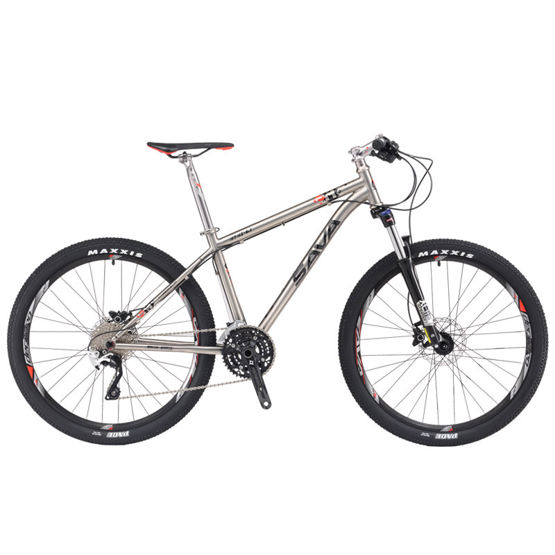 SAVA Titanium bicycle mountain bike Titanium frame bike 27.5 MTB mountain bike titanium mtb <font><b>Ti</b></font> material complete bicycle Deore image