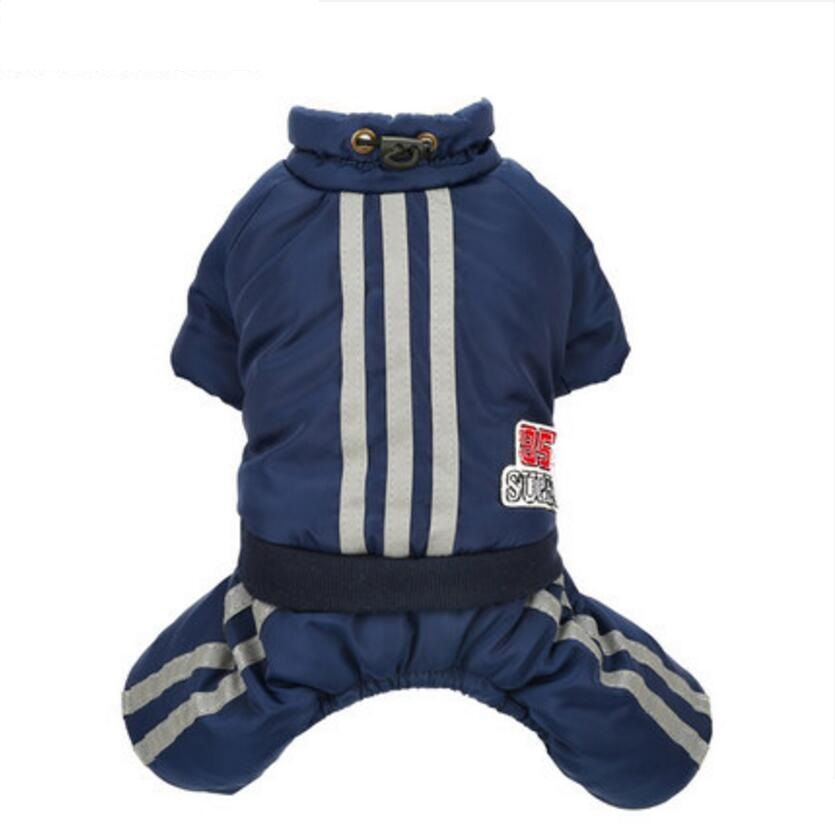 Warm Winter Pet Dog Coat Clothes Thick Dog Jumpsuits Overall Fleece Small Dog Clothes Pet Outfit Clothing 2 Color XS S M L XL